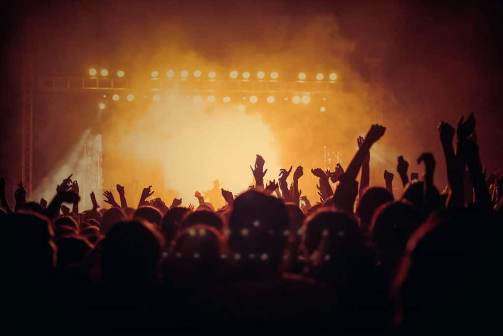 a picture of a concert